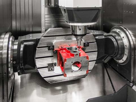 Maximum stability with double-sided hydraulic clamping
